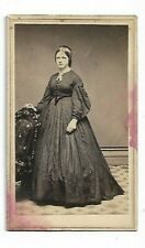 Attractive Civil War Era Dress- A J Stiles Photographist, Jamestown NY (3012)