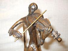 "Bronze ""First Violinist"" Sculpture by The Bronzart Casting Co Figurine Art new"