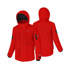 Fuerza Authentic Brand New Mens Winter Down Wellon Hooded Jacket Parka Red M
