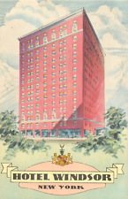 MANHATTAN NYC  HOTEL WINDSOR WEST 58TH STREET POSTCARD