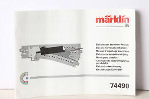 Märklin H0 Manual C-Weichen 74490 (190206)