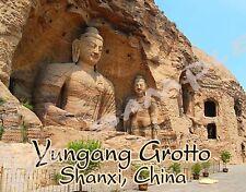 China - Shanxi - YUNGANG GROTTO - Travel Souvenir Flexible Fridge MAGNET
