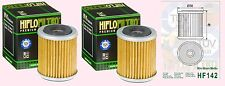 2x HF142 Oil Filter for Yamaha YFM YFM350  Raptor      2005 to 2013