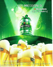 PUBLICITE ADVERTISING 016  2008  Heineken  bière en fut de 5 litres