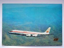IBERIA lineas aereas Spain Spagna AEREO DC 8 old postcard Douglas airplane