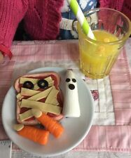 A.G.CREATION Doll Play Food: 5 Piece Halloween Lunch Set