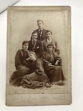 Beautiful Family Pyramid Portrait Antique Cabinet Card Photo Female Photographer