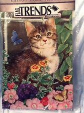 """Flower Box Kittens Double Sided Garden Flag 13"""" x 18 """" FlagTrends #45123 $12.99"""