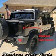Hummer H2 Sut Blackout Tail Light Covers 2003 thru 2009 Models Fits the Pick Up (Fits: Hummer)