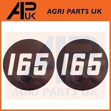 2 X Massey Ferguson 165 Tractor lado Bonnet Insignia Medallón Emblema Decal Sticker