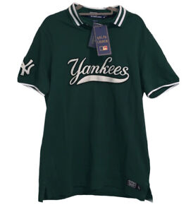 Polo Ralph Lauren New York Yankees Polo Shirt Green Men's Size M Limited Edition