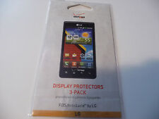 Verizon Display Protectors 3 Pack New And One Opened Package Total 3 Protectors