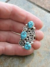 New ListingShirley Largo Navajo Turquoise Sterling Silver Ring Size 7