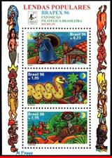 2601 BRAZIL 1996 POPULAR LEGENDS, BRAPEX, FOLKLORE, MI# B104 RHM B-106, S/S MNH