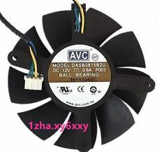 75mm Ati Nvidia Ventilador AVC dasb reemplazo 45x56x69mm 4Pin 0815B2U 12V 0.6A # @ 1zha