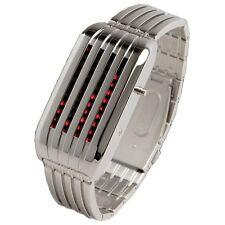 TOKYOFLASH SEAHOPE ELEENO BARCODE SV/RED LED WATCH, COOL, UNIQUE, FUTURISTIC
