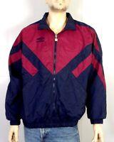 vtg 80s 90s Umbro men's Full Zip Colorblock Windbreaker Jacket VAPORWAVE sz L