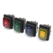 3 Position On-Off-On 6Pin DC 12V Waterproof Car Boat LED Rocker Switch Latching