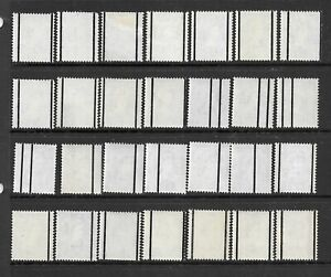 Collection of UNMOUNTED MINT QEII Wildings stamps with GRAPHITE lines.