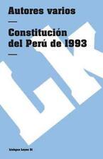 Constitucion del Peru de 1993 (Paperback or Softback)