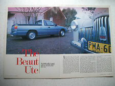 HOLDEN VG COMMODORE UTE COMPLETE 5 PAGE MAGAZINE PREVIEW ARTICLE