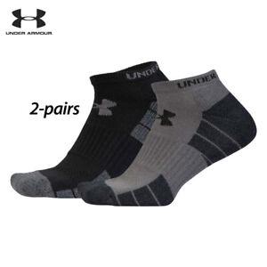 UA Socks: 2-PAIR Golf Elevated Performance (L) Graphite