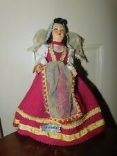 Vintage cloth hand painted Roma Calabria Ethnic Early International Doll