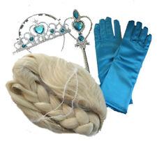 MädchenFasching Kostüm Eiskönigin ELSA Set (Krone, Handschuhe, Zepter, Perücke)