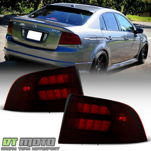 Red Smoke 2004 2005 2006 2007 2008 Acura TL Type-S Tail Lights Lamps Aftermarket