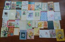 37 Vintage Greeting Cards - Graduation,Flowers - Scrapbook, Collage, Card-Making