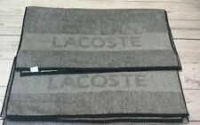 LACOSTE Bath Towels Black white with engraved  letters Brand New Heathered Towel