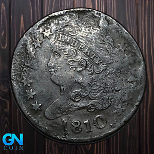 1810 Classic Head Half Cent --  MAKE US AN OFFER! #K5390