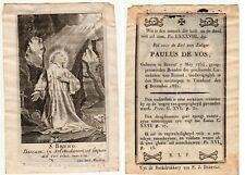 Kopergravure/doodsprentje. Paulus DE VOS, 1754-1831. Heilige BRUNO, C Van Merlen