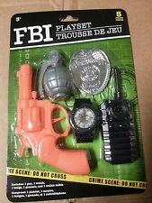 Fbi Police Playset Boys ChristmasToys-Toy Gun, Grenade,Badge,Watch, Phone