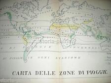 ANTICA CARTOGRAFIA_METEOROLOGIA_PIOGGIA_STAGIONI_AMERICHE_EUROPA_ASIA_OCEANIA