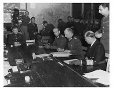 8x10 Silver Halide Photo German General Jodl Signing Surrender Ending Europe War