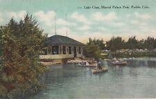 Postcard Lake Clara Mineral Palace Park Pueblo Co