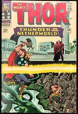 Mighty Thor #130 Sharp Vf- 1966 Thor Fights For Herc Against Pluto!
