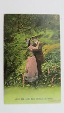 Vintage Bamforth Song Postcard 1909 LOVE ME THE WORLD IS MINE  No 4519