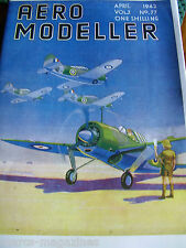 AEROMODELLER 1942 APRIL 77TH  ISSUE FACSIMILE MODEL AIRCRAFT AVIATION