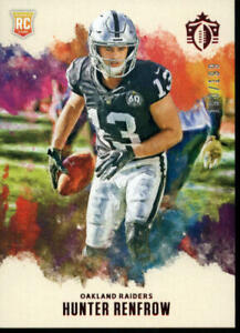 2019 GRIDIRON KINGS RED #12 HUNTER RENFROW 160/199 ROOKIE CARD OAKLAND RAIDERS