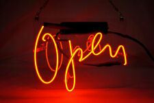 "Shop Open Neon Sign Bar Gift 14""x10"" Light Lamp Bedroom Wall Decor Poster"