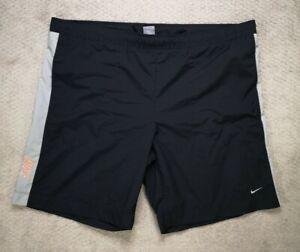 Nike Men's XXL Swim Trunks Shorts Black Mesh Lined Drawstring