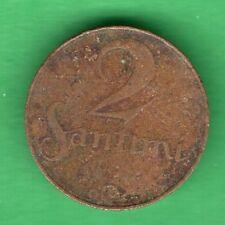 LATVIA LETTLAND 2 SANTIMI 1922 COIN 56