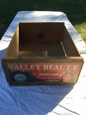 Vintage Old Wooden Wood Valley Beauty California Wine Grape Zinfandel Box Crate