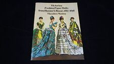 1977 Victorian Fashion Paper Dolls From Harper's Barzar1867-1898