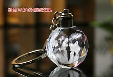personalized Custom Laser Etched Engraved Crystal Photo Keychain W LED Light