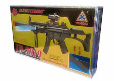 Kids TD-2019 Super Combat Vibrate Firing Toy Gun B/O Light Sound UV Radiation