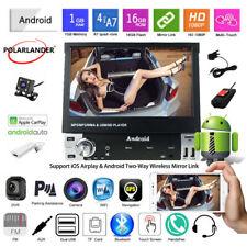 7''1 Din GPS Android Car Radio+Carplay+Camera+DVR FM Bluetooth Touch Screen Wifi