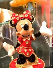 Disney Parks Authentic Minnie Mouse Jeweled Figurine By Arribas - SWAROVSKI® LE